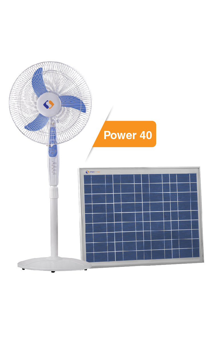 40 Watt Home lighting system with solar panel and DC fan | India Go ...